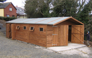massive workshop & wooden garage shed