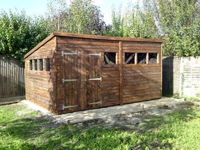 16x10 Pent-E Beast wood Garden shed