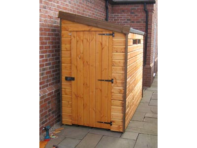 8x4 Pent-D Standard wood Security shed