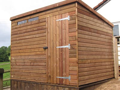 8x6 Pent-B Tanalised wood Security shed