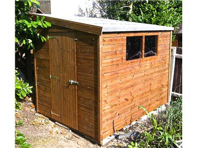 8x6 Pent-G Tanalised wood Garden shed