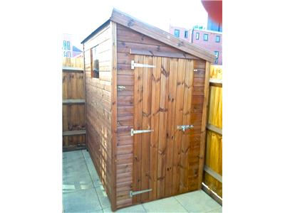 6x4 Pent-D Tanalised wood Garden shed
