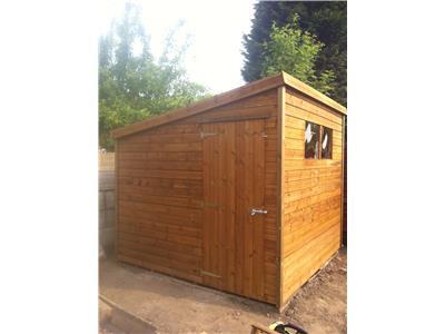 8x8 Pent-E Standard wood Garden shed