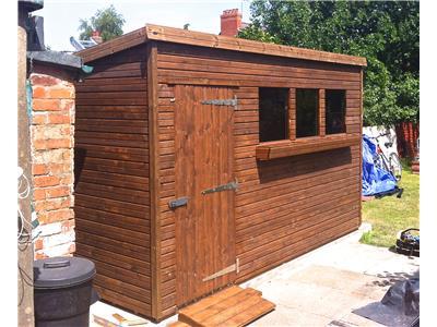 12x8 Pent-A Beast wood Garden shed