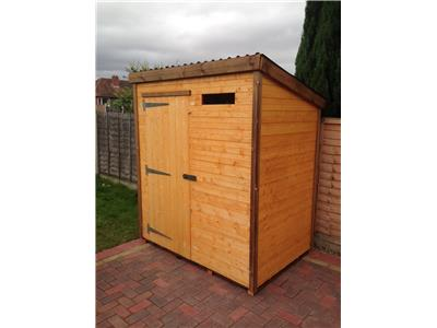 6x4 Pent-A Standard wood Security shed
