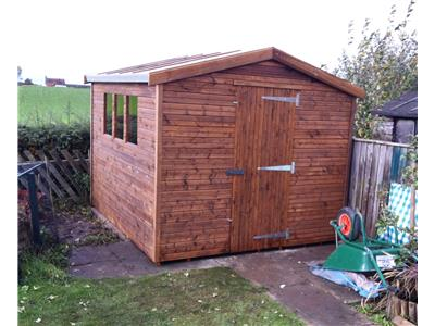 9x8 Apex Beast wood Garden shed