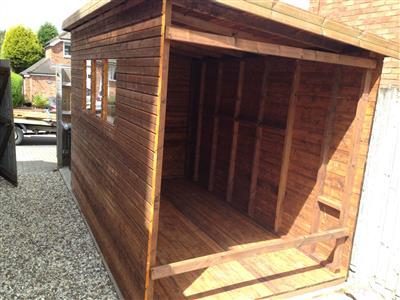 11x6 Pent-D Beast wood Garden shed