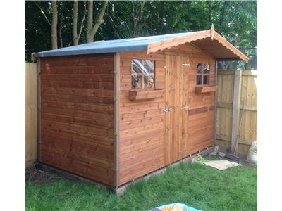 10x6 S1 Tanalised wood Garden shed