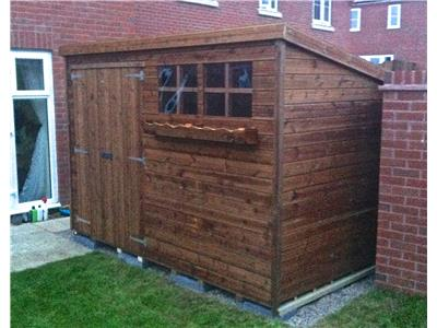 10x5 Pent-A Tanalised wood Garden shed