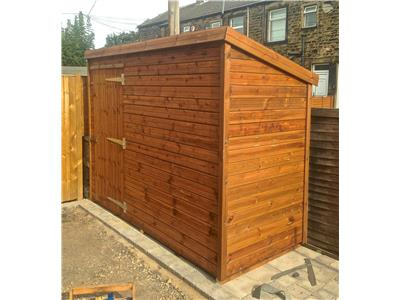 9x4 Pent-A Tanalised wood Security shed