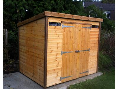 8x6 Pent-C Standard wood Security shed