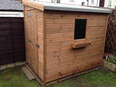 7x5 Pent-G Tanalised wood Security shed