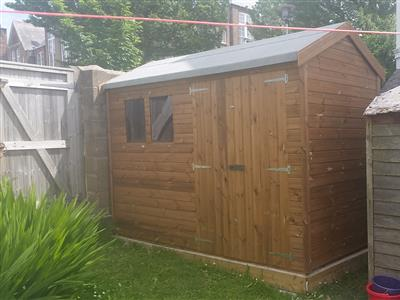 8x5 HiPex-B Tanalised wood Garden shed