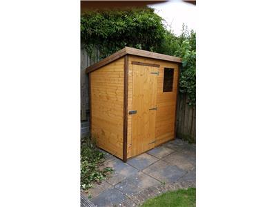 6x4 Pent-A Standard wood Garden shed