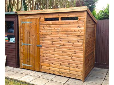 8x5 Pent-A Tanalised wood Security shed