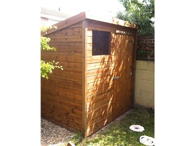 6x5 Pent-B Tanalised wood Garden shed