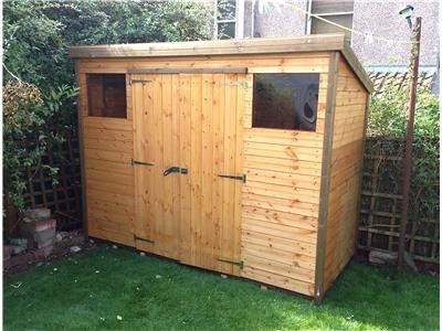 14x8 Pent-C Standard wood Garden shed