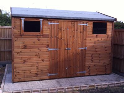 11x9 HiPex-C Tanalised wood Garden shed