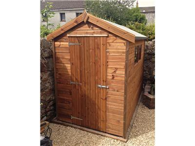 9x5 Apex Tanalised wood Garden shed