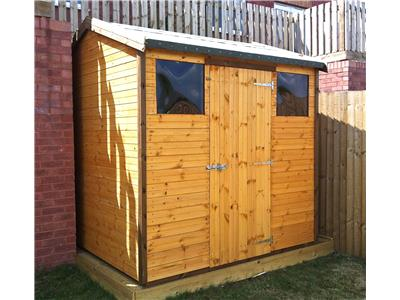 7x7 HiPex-C Standard wood Garden shed