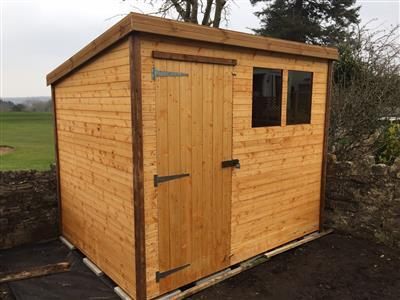 8x6 Pent-A Standard wood Garden shed