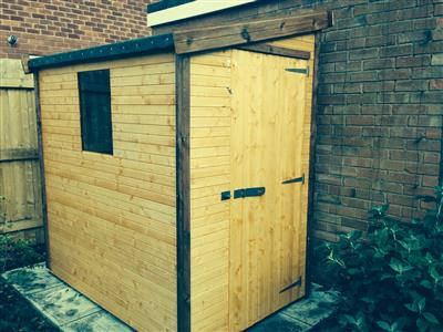 6x4 Pent-F Standard wood Garden shed