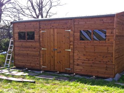 18x11 HiPex-C Tanalised wood Garden shed
