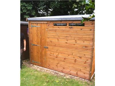 9x8 HiPex-A Tanalised wood Security shed