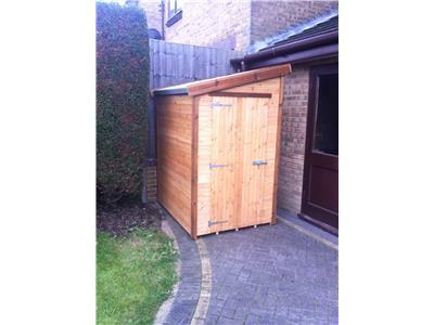 5x4 Pent-E Standard wood Garden shed