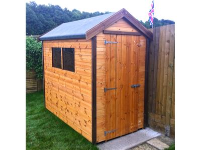 8x4 Apex Standard wood Garden shed