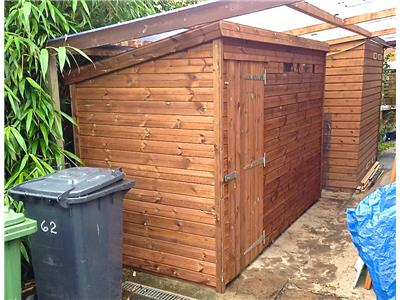 10x5 Pent-A Tanalised wood Security shed