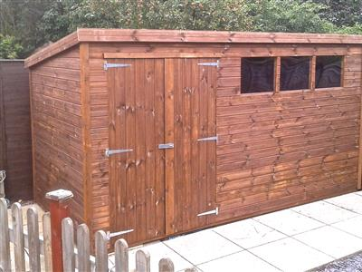 13x6 Pent-A Tanalised wood Garden shed