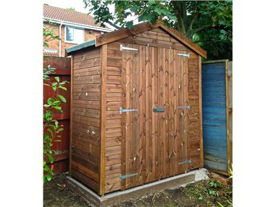6x3 Apex Tanalised wood Garden shed
