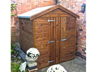 6x6 Apex Tanalised wood Garden shed