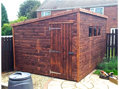10x10 Pent-E Tanalised wood Garden shed