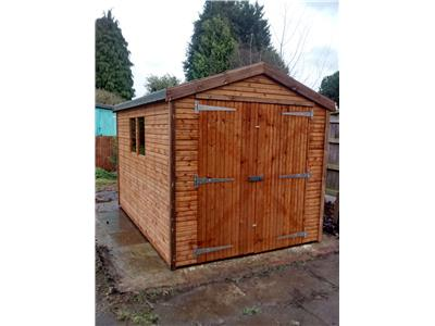 10x7 Apex Beast wood Security shed