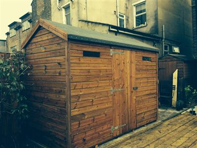 10x5 HiPex-C Tanalised wood Security shed