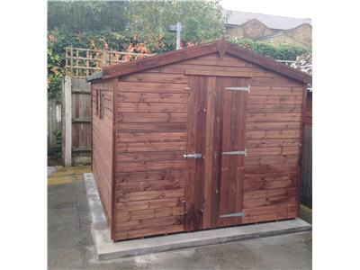 12x8 Apex Tanalised wood Garden shed
