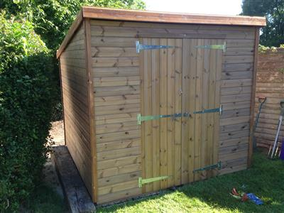 7x6 Pent-C Tanalised wood Security shed