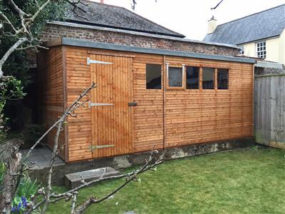 8x6 Pent-F Standard wood Garden shed