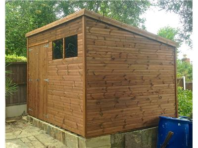 10x8 Pent-A Tanalised wood Garden shed