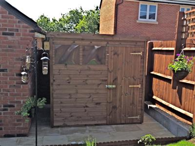 7x6 Pent-B Tanalised wood Garden shed