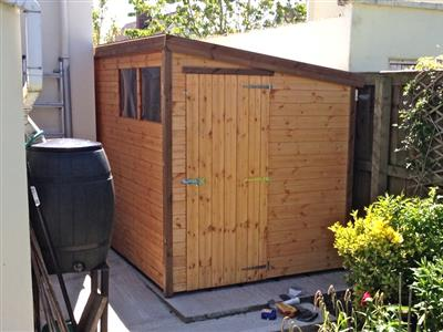 10x6 Pent-D Standard wood Garden shed