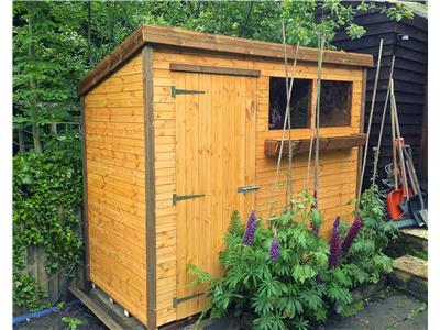 8x4 Pent-A Standard wood Garden shed