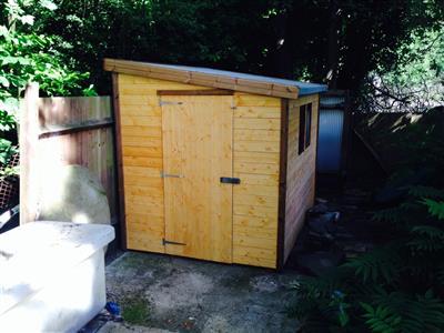 8x6 Pent-G Standard wood Garden shed