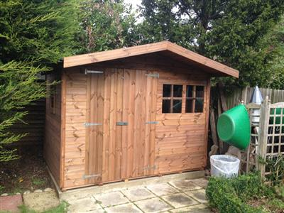 9x6 S2 Tanalised wood Garden shed