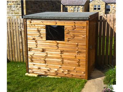 6x4 Pent-F Tanalised wood Garden shed