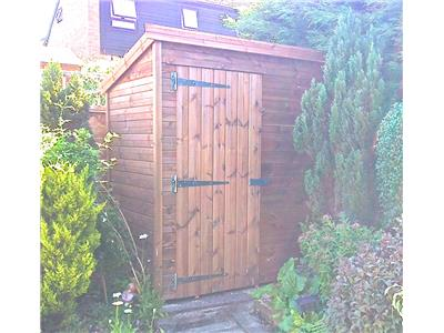 6x4 Pent-A Tanalised wood Security shed