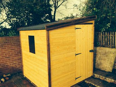 6x6 Pent-F Standard wood Garden shed