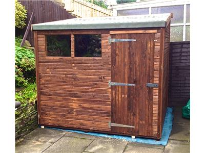 8x7 HiPex-B Beast wood Garden shed